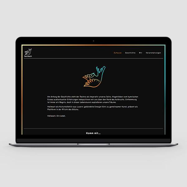 Laptop mac hellwach