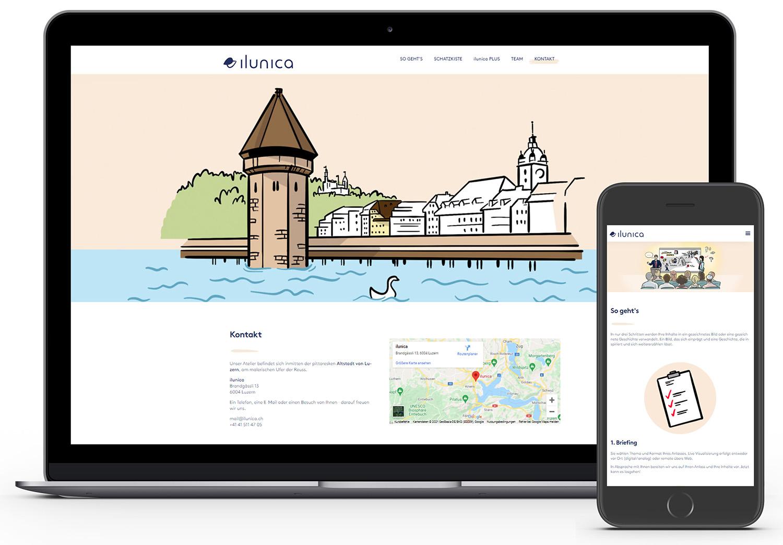 ilunica webseite